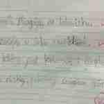 Dwujęzyczne dziecko uczy się pisać – ujednolicajmy krój liter pisanych! cz.1