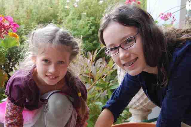 Natalia Mahoney z siostrą