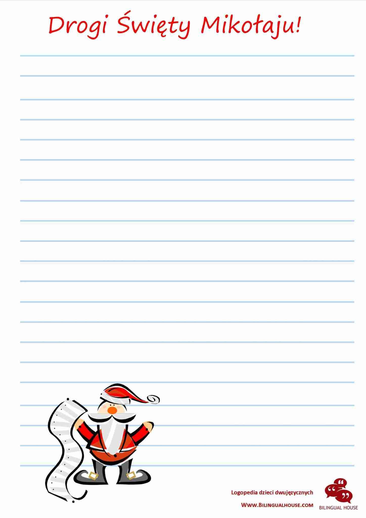list do Mikołaja dzieci starsze